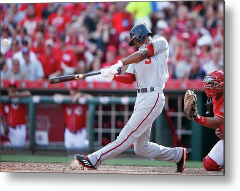 Great American Ball Park Metal Print featuring the photograph Michael Taylor by Joe Robbins