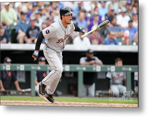 Double Play Metal Print featuring the photograph Miguel Cabrera by Dustin Bradford