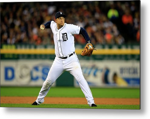 American League Baseball Metal Print featuring the photograph Miguel Cabrera by Jamie Squire