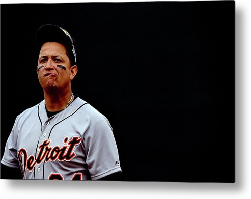 Game Two Metal Print featuring the photograph Miguel Cabrera by Patrick Smith