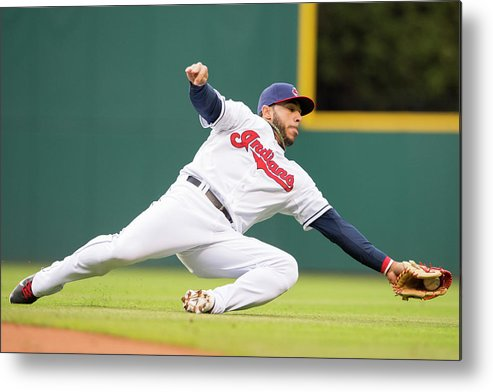 American League Baseball Metal Print featuring the photograph Mike Aviles by Jason Miller