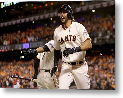 Playoffs Metal Print featuring the photograph Mike Morse by Christian Petersen