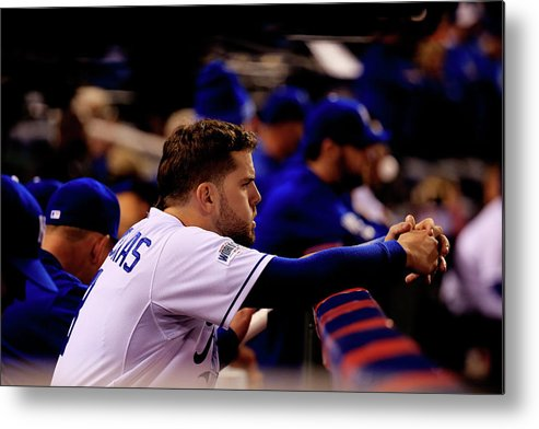 People Metal Print featuring the photograph Mike Moustakas by Rob Carr