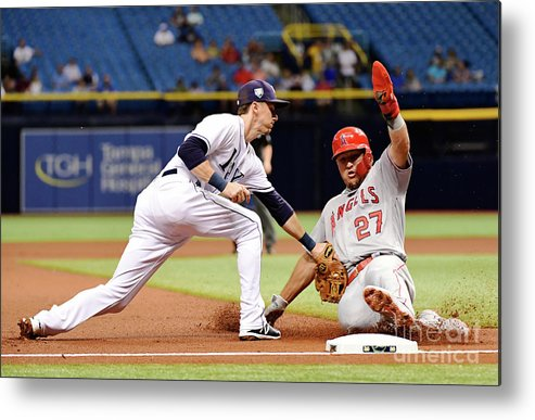 People Metal Print featuring the photograph Mike Trout by Julio Aguilar