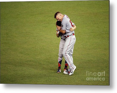 People Metal Print featuring the photograph Mike Trout by Patrick Mcdermott