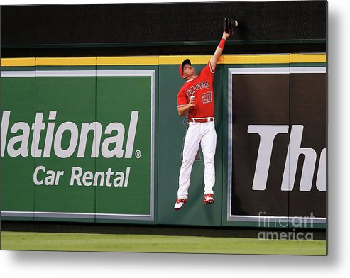 People Metal Print featuring the photograph Mike Trout by Sean M. Haffey