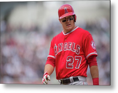 Mike Trout Metal Print featuring the photograph Mike York by Rob Tringali