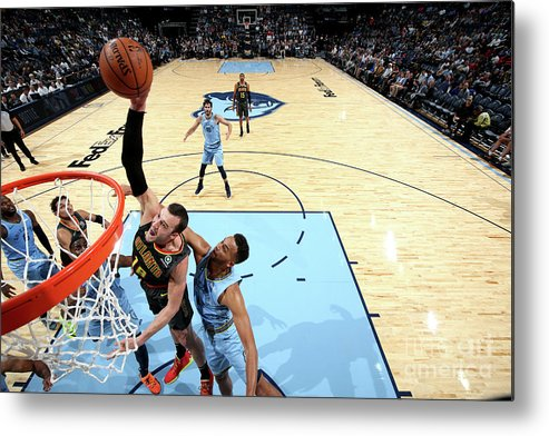 Nba Pro Basketball Metal Print featuring the photograph Miles Plumlee by Joe Murphy
