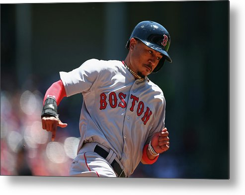 People Metal Print featuring the photograph Mookie Betts by Ronald Martinez