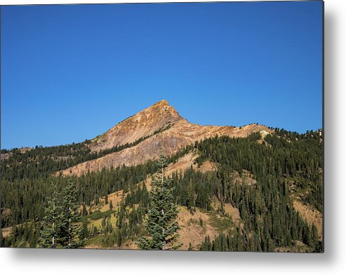 Mountain Metal Print featuring the photograph Mount Tehama by John Heywood