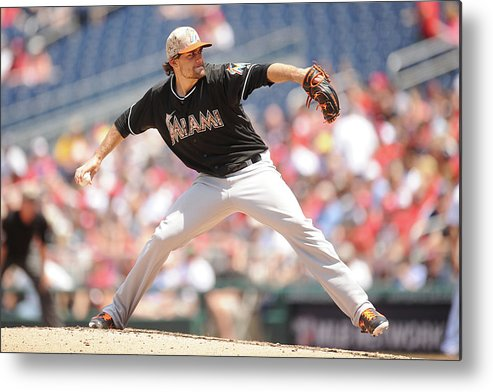 Second Inning Metal Print featuring the photograph Nathan Eovaldi by Mitchell Layton