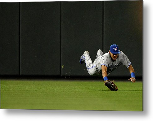 American League Baseball Metal Print featuring the photograph Nelson Cruz and Melky Cabrera by Patrick Smith