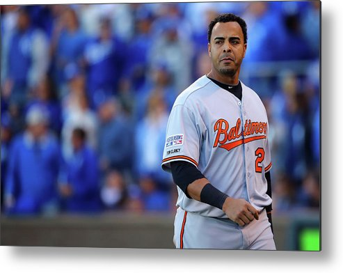 American League Baseball Metal Print featuring the photograph Nelson Cruz by Dilip Vishwanat