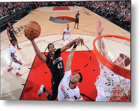Nba Pro Basketball Metal Print featuring the photograph Nene Hilario by Sam Forencich