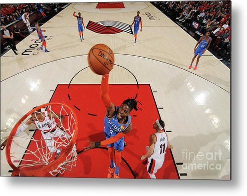Playoffs Metal Print featuring the photograph Nerlens Noel by Cameron Browne