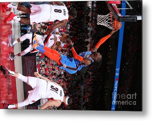 Playoffs Metal Print featuring the photograph Nerlens Noel by Sam Forencich