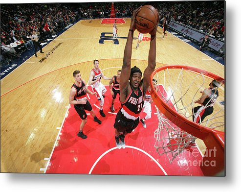 Nba Pro Basketball Metal Print featuring the photograph Noah Vonleh by Ned Dishman