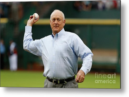 People Metal Print featuring the photograph Nolan Ryan by Scott Halleran