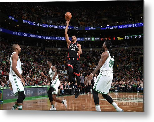 Nba Pro Basketball Metal Print featuring the photograph Norman Powell by Brian Babineau