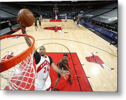 Nba Pro Basketball Metal Print featuring the photograph Norman Powell by Jeff Haynes