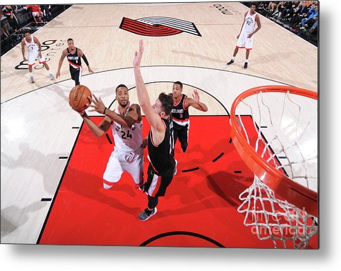 Nba Pro Basketball Metal Print featuring the photograph Norman Powell by Sam Forencich