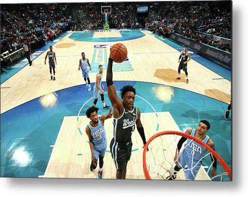 Nba Pro Basketball Metal Print featuring the photograph Og Anunoby by Nathaniel S. Butler