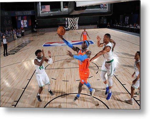 Nba Pro Basketball Metal Print featuring the photograph Oklahoma City Thunder v Boston Celtics by David Sherman