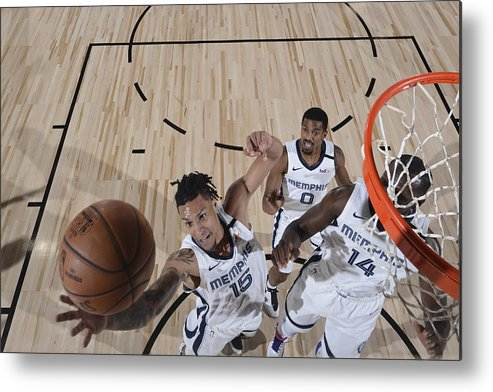 Nba Pro Basketball Metal Print featuring the photograph Oklahoma City Thunder v Memphis Grizzlies by Joe Murphy