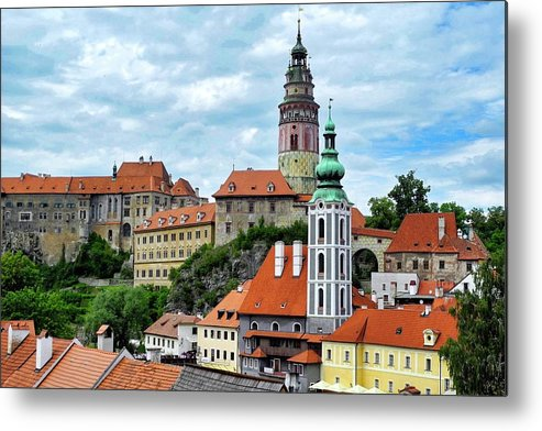 Cesky Krumlov Metal Print featuring the photograph Overview of Cesky Krumlov by Kirsten Giving