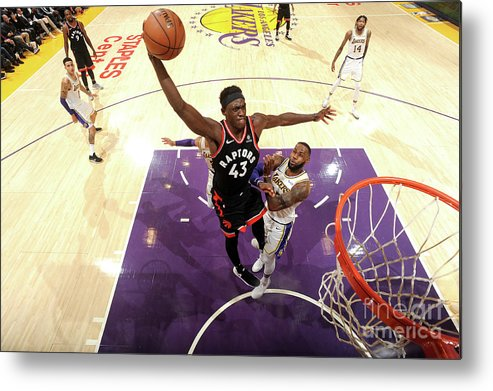 Nba Pro Basketball Metal Print featuring the photograph Pascal Siakam by Andrew D. Bernstein