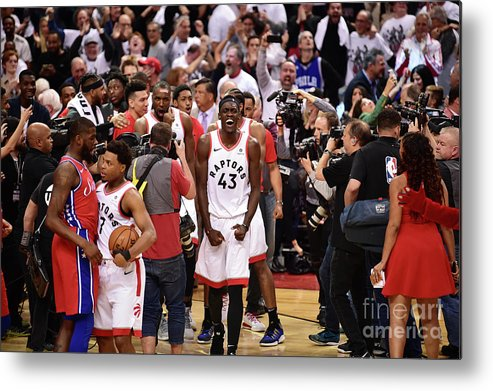 Playoffs Metal Print featuring the photograph Pascal Siakam by David Dow