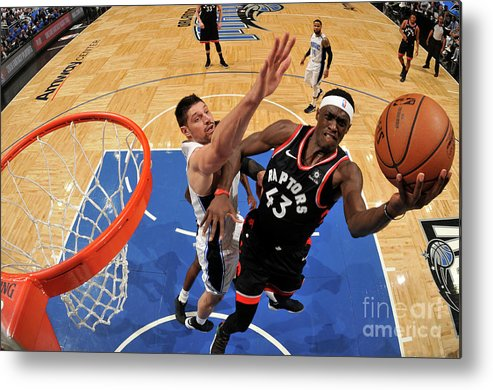 Playoffs Metal Print featuring the photograph Pascal Siakam by Fernando Medina