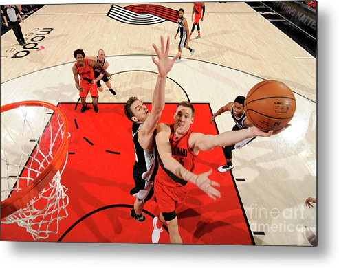Nba Pro Basketball Metal Print featuring the photograph Pat Connaughton by Cameron Browne