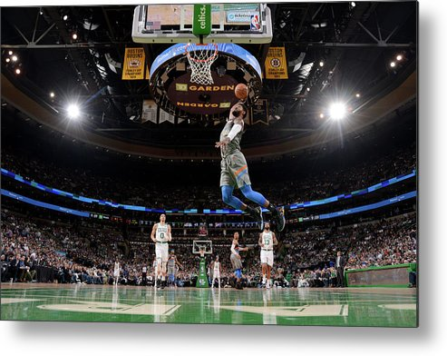 Nba Pro Basketball Metal Print featuring the photograph Paul George by Brian Babineau