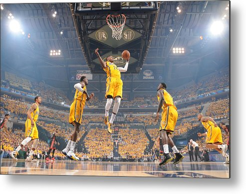 Playoffs Metal Print featuring the photograph Paul George by Ron Hoskins