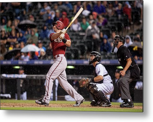 People Metal Print featuring the photograph Paul Goldschmidt and Nick Hundley by Dustin Bradford