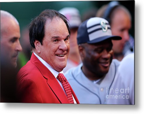 Great American Ball Park Metal Print featuring the photograph Pete Rose by Elsa