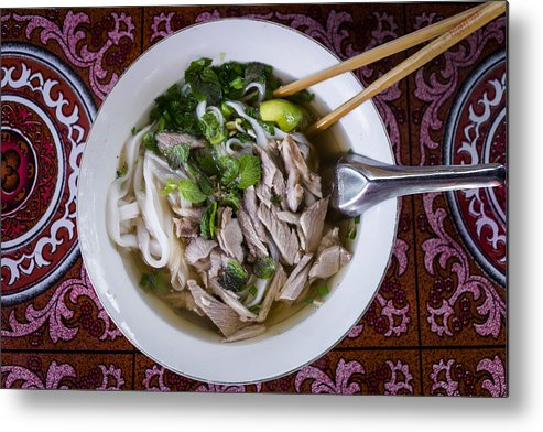 Tranquility Metal Print featuring the photograph Pho Soup by © Santiago Urquijo