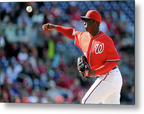 Ninth Inning Metal Print featuring the photograph Rafael Soriano by Greg Fiume
