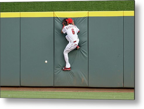 Great American Ball Park Metal Print featuring the photograph Randal Grichuk by Andy Lyons