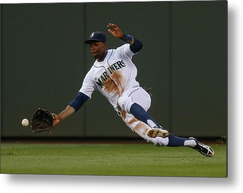 American League Baseball Metal Print featuring the photograph Raul Ibanez and James Jones by Otto Greule Jr