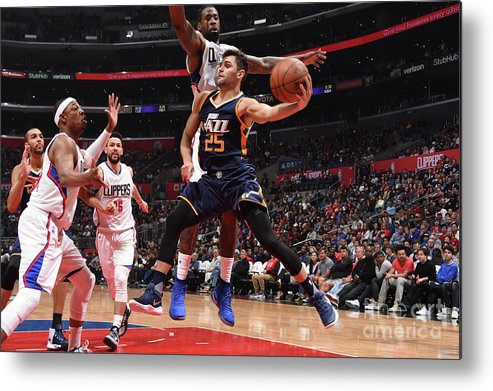 Nba Pro Basketball Metal Print featuring the photograph Raul Neto by Andrew D. Bernstein