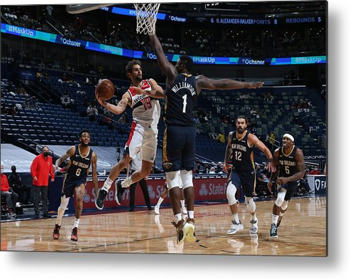Smoothie King Center Metal Print featuring the photograph Raul Neto by Layne Murdoch Jr.