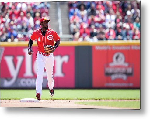 Great American Ball Park Metal Print featuring the photograph Red Phillips by Taylor Baucom