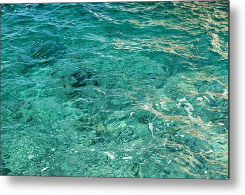 French Riviera Metal Print featuring the photograph Reflection on blue sea by Jean-Marc PAYET