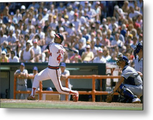 1980-1989 Metal Print featuring the photograph Reggie Jackson by Mike Powell