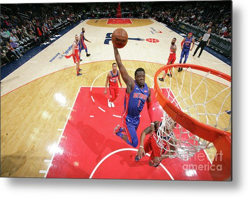 Nba Pro Basketball Metal Print featuring the photograph Reggie Jackson by Ned Dishman