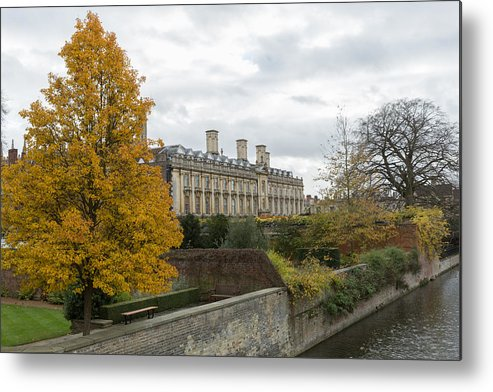 Cambridgeshire Metal Print featuring the photograph River Cam in Cambridge England city scene by Mikeuk