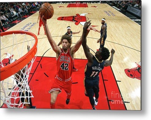 Nba Pro Basketball Metal Print featuring the photograph Robin Lopez by Gary Dineen
