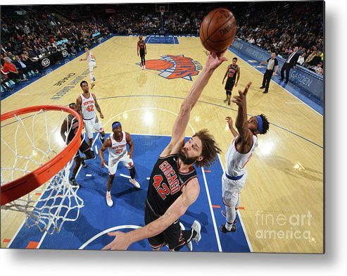 Nba Pro Basketball Metal Print featuring the photograph Robin Lopez by Jesse D. Garrabrant